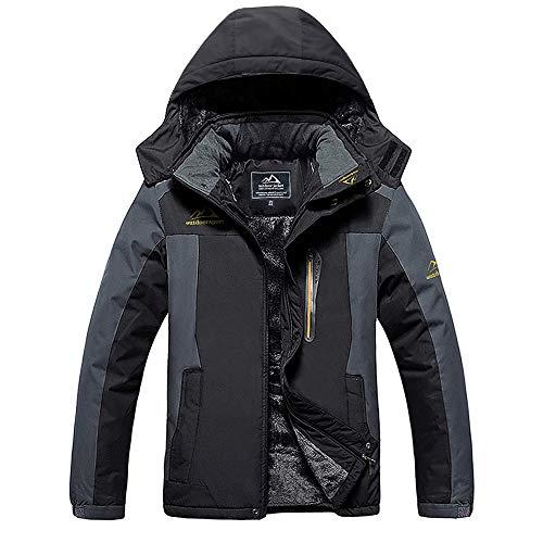 MAGCOMSEN Men's Waterproof Skiing Jacket Windproof Outdoor Mountain Parka Fleece Jackets with Hood