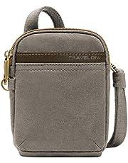 Travelon Travelon Anti-theft Courier Mini Crossbody, Stone Gray (gray) - 33338-840