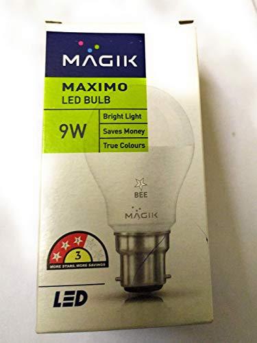 Magik 9 Watts B22 LED White Bulb, Pack of 4