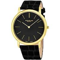 Men's 601.33351 Classic Ascot Swiss Quartz Ultra Thin Black Leather Strap Watch
