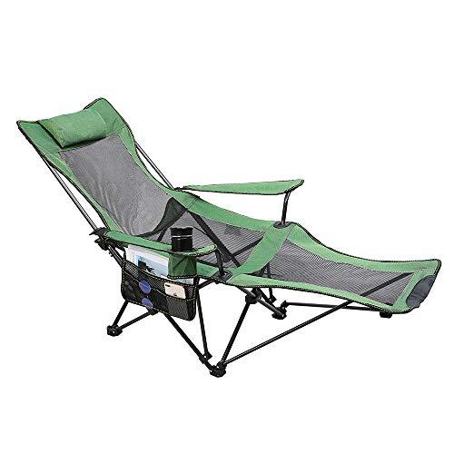 <캠피용품> 아웃도어 체어 리클라이닝 체어 접이식 의자 (색상: 그린, 블루)