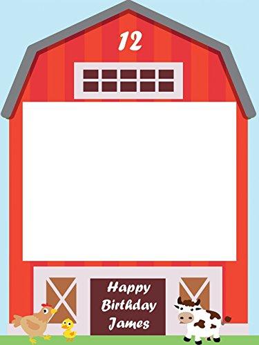 - Custom Barnyard Farm Photo Booth Prop - Sizes 36x24, 48x36; Personalized barn Birthday, Farm party, Animal Kids Birthday Photo Booth Frame, selfie frame; Handmade Realtor Estate Decor photo props