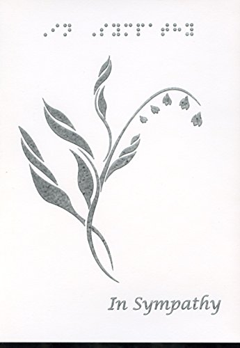 - Braille and Tactile Greeting Card: In Sympathy, Lilies of the Valley