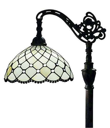 Amora Lighting AM121FL12 Tiffany Style Jewel Reading Lamp Adjustable Shade 62 In by Amora Lighting