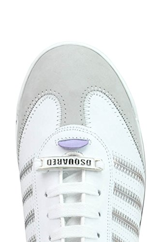 Sneakers MCGLCAK03085E Donna DSQUARED2 Pelle Bianco T1z80YH0qw