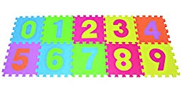 Numbers Puzzles Play Mat 10-tile Colorful EVA Foam Kids Floor by Poco Divo