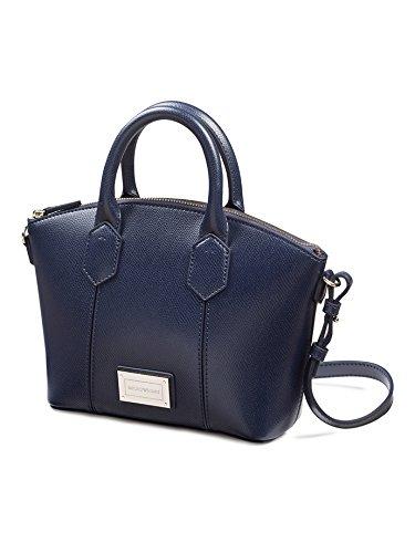 Alta Calidad Emporio Armani Mini borsa a mano Blu/Nero Eastbay Barato Real pYKTvj
