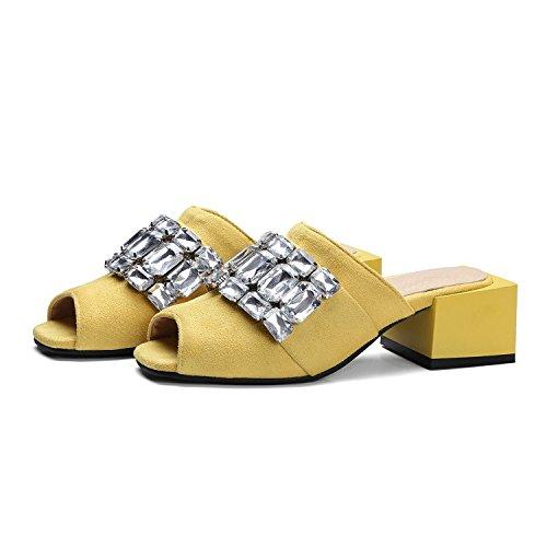 Scarpe da donna YCMDM Outwear da usura estiva Sandali di formato oversize di modo , yellow , 34
