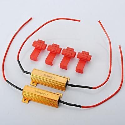 50w Flash Rate Load Resistors LED Turn Signals Light Indicator Controllers ()