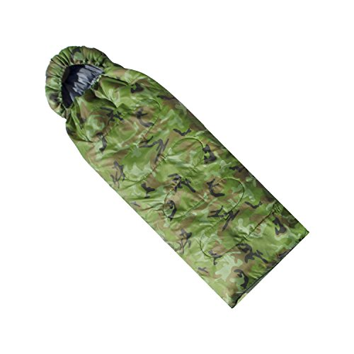 ALEKO SB6CM Insulated Sleeping Bag 4 Season Insulation Camping Hiking Outdoor 76 x 26 Inches Camouflage