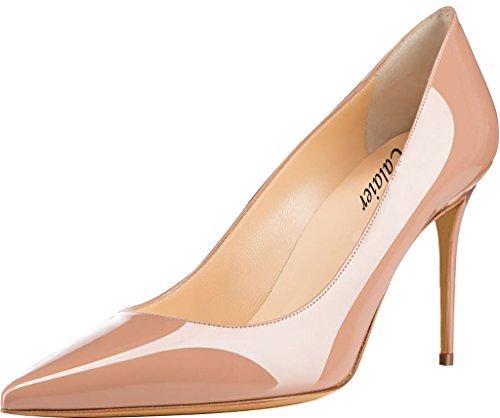 5CM Calaier Damen Stiletto Schuhe 8 Pumps Schlüpfen Catop qqa16wv