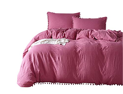 feelyou douvet Cover Set 3PCS Bedding pom pom Fringe for sale  Delivered anywhere in Canada