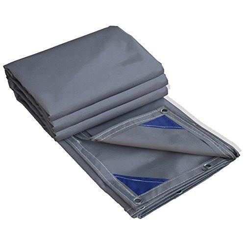 魅惑的な消える世界PENGFEI 厚い オーニングターポリン 防水 雨布 工場 日焼け止め シェード 耐摩耗性 プールの保護 PVC、 厚さ0.6MM、 600g/m 2 (色 : グレー, サイズ さいず : 3 x 4m)