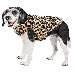 Pet Life ® Luxe 'Poocheetah' Ravishing Designer Spotted Cheetah Patterned Mink Fur Dog Coat Jacket, X-Small, Brown Click on image for further info.