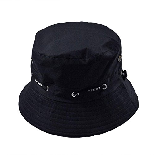 Adjustable Cotton Boonie Hats Sun Protection Cap Bucket Hat Double Side Fisherman Hat (Navy Fisherman Style Velcro)