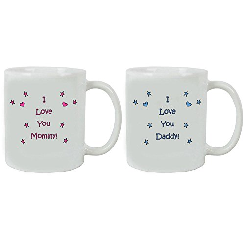 I Love you Daddy/Mommy Coffee Mugs with Gift Boxes Bundle - Expecting Daddy/Mommy, Father's Day/Mother's Day, World's Best Mommy/World's Best Daddy