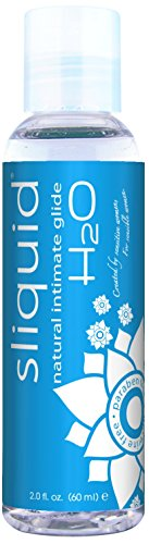 - Sliquid Lubricants H2o Naturals Water Based Intimate Lubricant, 2 Fluid Ounce
