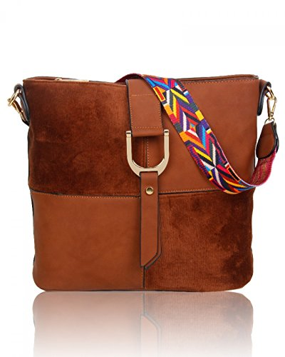 Cross Body Designer Guitar 531 Aztec Quality Tote Bag Brown For Bags Grab Shoulder LeahWard Women Strap Handbags Women's Zf4xgwAp