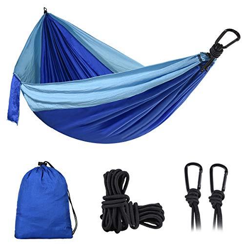 DONGOLO Double & Single Camping Hammock Lightweight Portable Parachute Nylon Hammock Set for Outdoor...
