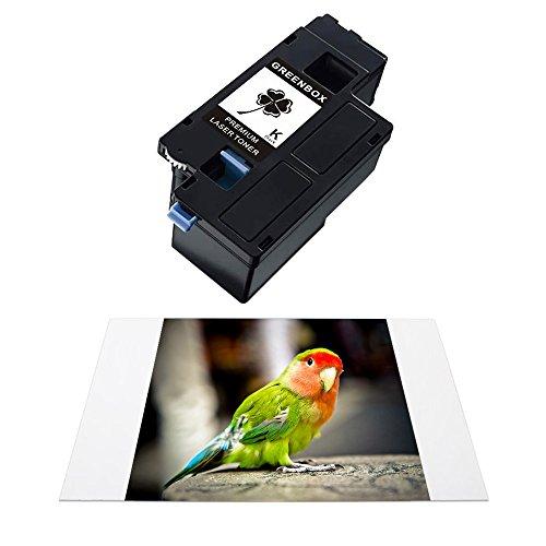GREENBOX Compatible Toner Cartridge Replacement Combo Set For DELL E525W (1 Black| 1 Cyan| 1 Magenta| 1 Yellow) H3M8P VR3NV WN8M9 MWR7R For use in Dell Color Multifunction E525w Printer Photo #3