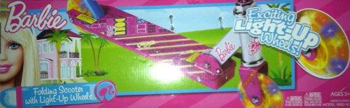 Amazon.com: Barbie – Patinete plegable con Light Up Ruedas ...