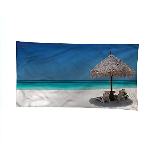 Coastaltapestrywall tapestrySunbeds in Azure Shoreline 80W x 60L Inch