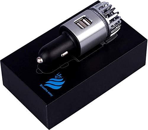 Purificador de aire para coche y cargador rápido de doble puerto ...