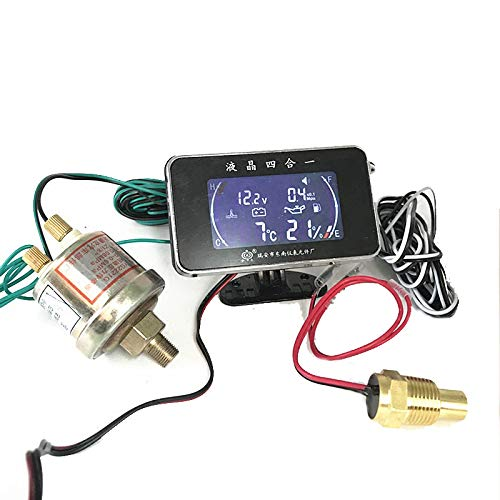 Cutogain 4 In 1 /Öldruckanzeige Voltmeter Temperaturanzeige Meter mit Drucksensor
