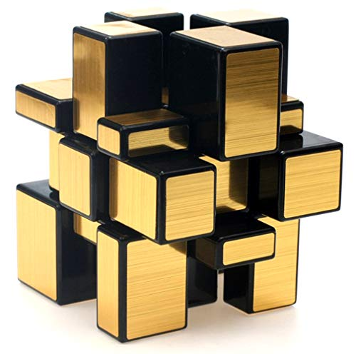 Block Mirror (TANCH Dysmorphism Mirror Surface Speed Magic Cube 3x3 Puzzle for Children & Adults Gold)