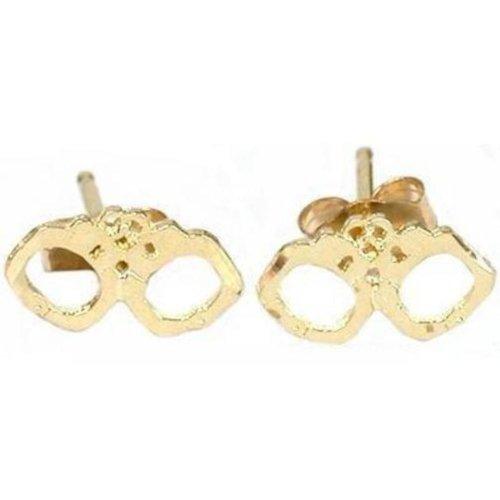 14K Gold Handcuff Earrings