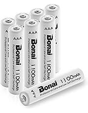 BONAI Akku AAA Wiederaufladbare Batterien,hohe Kapazität 1100mAh AAA NI-MH Aufladbare Akkubatterien geringe Selbstentladung (8 Stück)