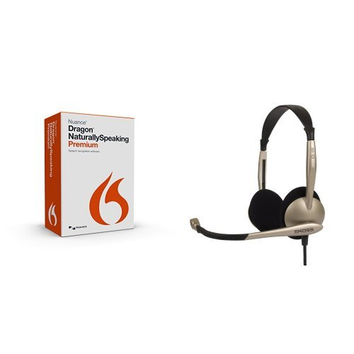 Bundle: Dragon NaturallySpeaking Premium 13.0 and Koss CS100 Speech Recognition Computer Headset (Computer Dictation Software compare prices)