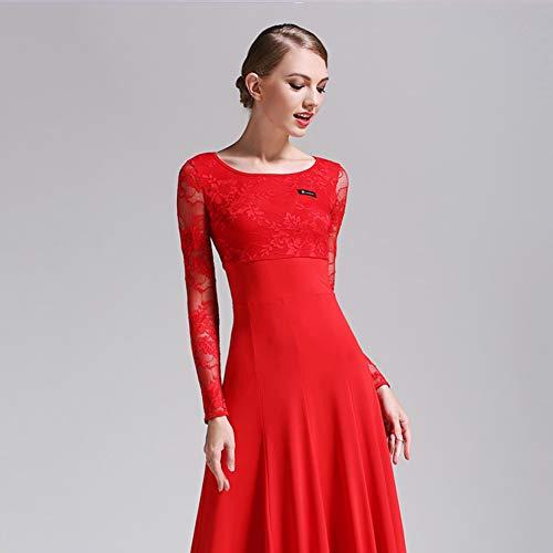 Donne Vestiti Moderno Da La Pratica Tango Della Sociale Per Sala 2xl Red Vestito Ballo Pizzo Danza Abiti Valzer Xiaoy gqxYfPwvP