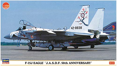 Hasegawa 1/72 Air Self Defense Force F-15J Eagle 50th Anniversary Special Paint Plastic Model 00764 ()