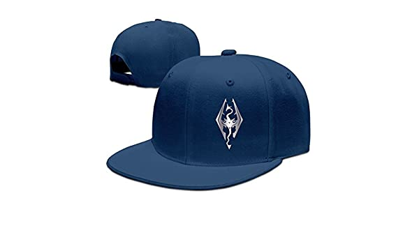 amazon dragon video platinum style baseball cap navy home kitchen skyrim mod hat