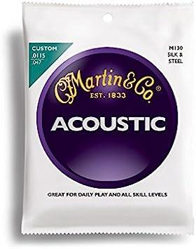 Martin M130 - Juego de cuerdas para guitarra de seda, fósforo, acero en Do.011 - .047