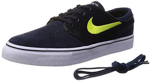 Nike Zoom Stefan Janoski Zapatillas de skateboarding, Hombre Negro / Blanco (Dark Obsidian / Cyber-Blk-White)