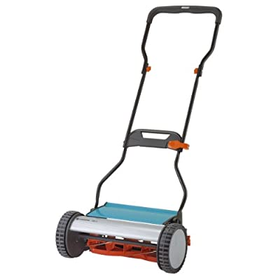 Gardena 4024 15-Inch Silent Push Reel Lawn Mower with Folding Ergonomic Handle
