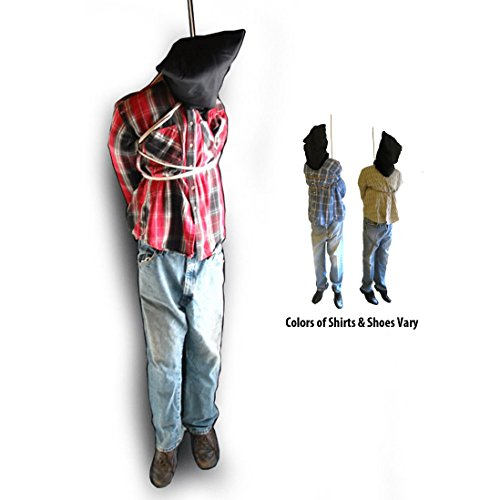 [6 Foot Tall Hanging Man Scary Haunted House Halloween Life Size Prop] (Hanging Halloween Props)