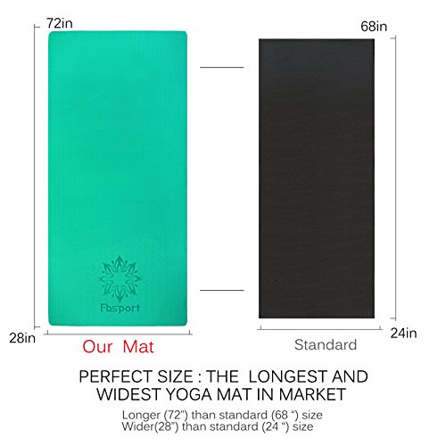 Fbsport Limited Time Deal Yoga Mat With Carrying Strap