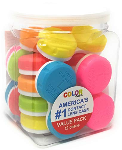 Rainbow Contact Lenses - Contact Lens Case, Color Case, Value