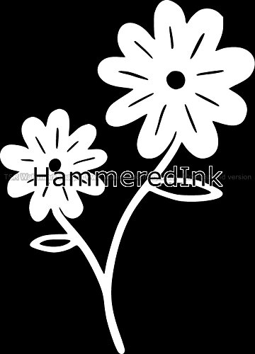 Daisy flowers Car decal wall sticker Hammered Ink
