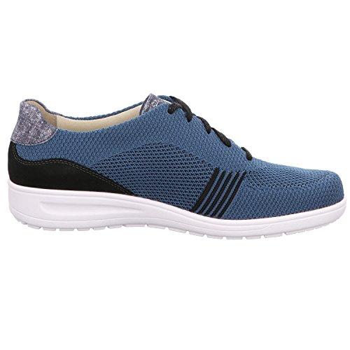 Mujer Solidus Para De Y Azul Negro Zapatos Cordones PqT4I