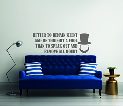 Better To Remain Silent And Be Thought.-- Abraham Lincoln- Reflections Theme Quotes - Wall Decal For Home Bedroom Living - Reflections Bedroom