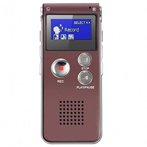 ELEGIANT 8GB Multifunctional Digital Voice Recorder Recharge