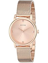 Womens Stainless Steel Diamond Dial Mesh Bracelet Watch, Color: Rose Gold-Tone (