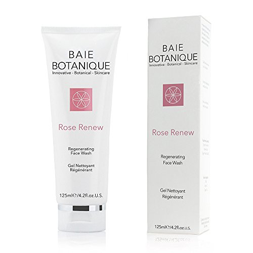 Baie Botanique Natural Organic Anti-Aging Face Wash - Rosewater, Rose Absolute, Rosehip Seed Oil, MSM, Vitamin C, Green Tea - 98% Natural, 70% (Msm Rose)