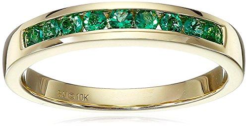 Yellow Gold Emerald Ring - 1