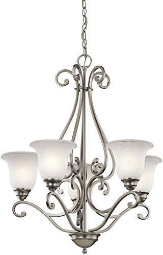 (Kichler 43224NI Camerena Chandeliers Lighting, Brushed Nickel 5-Light (27