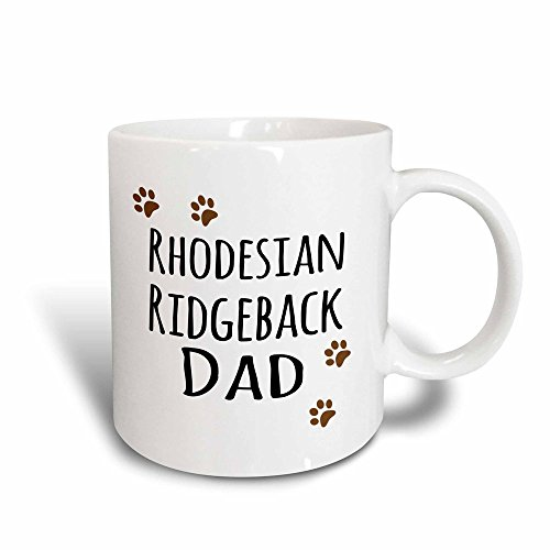 3dRose (mug_153971_3) Rhodesian Ridgeback Dog Dad - Doggie by breed - brown paw prints - doggy lover - pet owner love - Magic Transforming Mug, - Rhodesian Dog Ridgeback Pictures